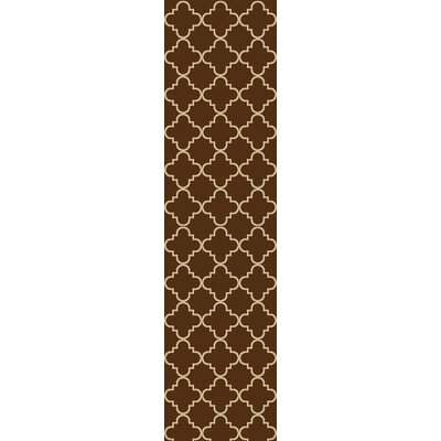 Beauchamp Square Brown Moroccan Trellis Doormat Mat Size: Runner 18 x 411