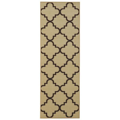 Garin Moroccan Trellis Ivory Area Rug Rug Size: Runner 110 x 69