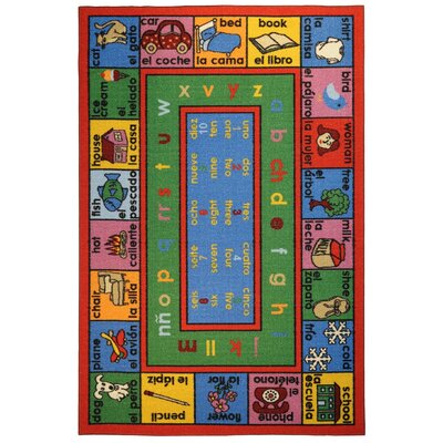 Bambino Kids Fun Time Educational English Spanish Numbers and Words Area Rug Rug Size: 33 x 5