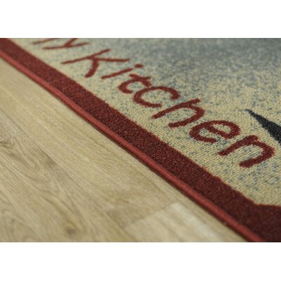 Beauchesne I Love My and Utensils Kitchen Mat Rug Size: 16 x 27