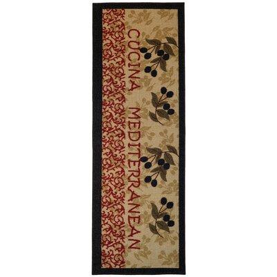 Birdsview Italian Olive Garden Kitchen Mat Rug Size: Runner 18 x 411