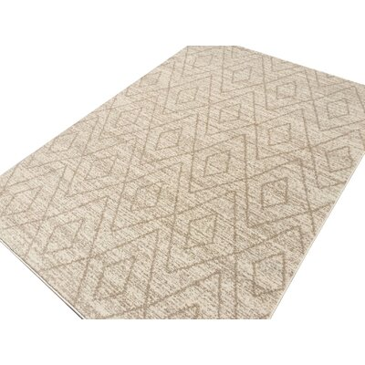 Zahra Cream/Beige Outdoor Area Rug Rug Size: 3 x 5
