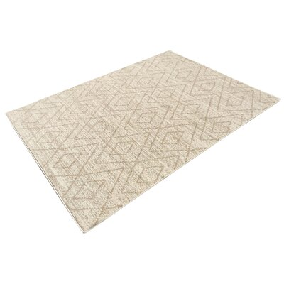 Zahra Cream/Beige Outdoor Area Rug Rug Size: 5 x 7