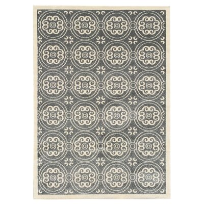 Zahra Gray Indoor/Outdoor Area Rug Rug Size: 5 x 7