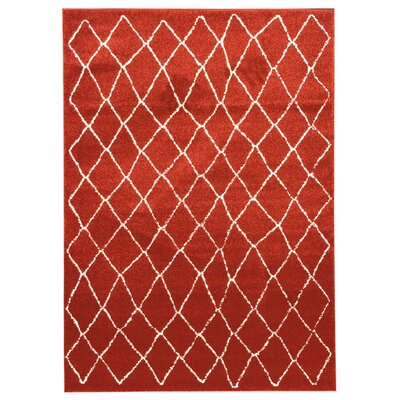 Zahra Orange Indoor/Outdoor Area Rug Rug Size: 8 x 11