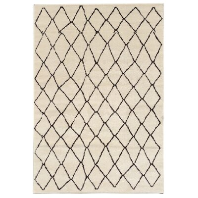 Zahra Cream Area Rug Rug Size: Rectangle 3 x 5