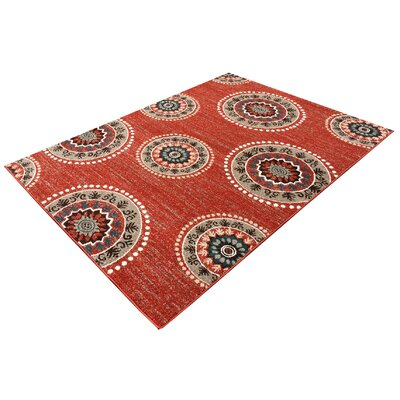 Zahra Terracotta Orange Indoor/Outdoor Area Rug Rug Size: 5 x 7