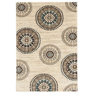 Zahra Cream Indoor/Outdoor Area Rug Rug Size: 2 x 5