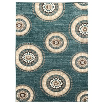 Zahra Teal Indoor/Outdoor Area Rug Rug Size: 3 x 5