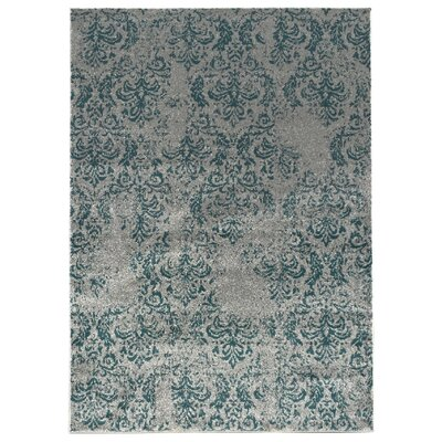 Zahra Teal/Blue Indoor/Outdoor Area Rug Rug Size: 5 x 7
