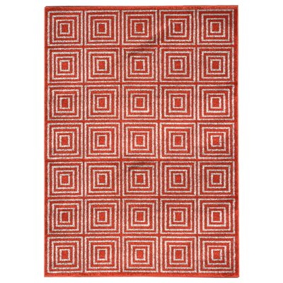 Zahra Orange Indoor/Outdoor Area Rug Rug Size: 5 x 7
