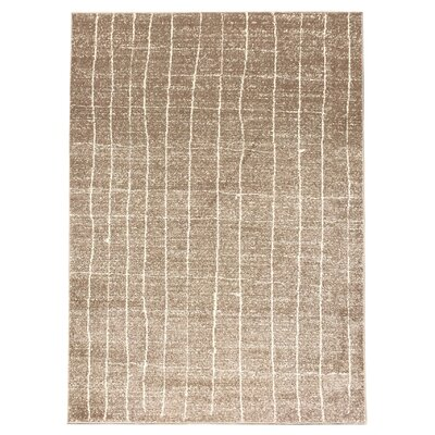 Zahra Hand-Woven Cream Outdoor Area Rug Rug Size: 5 x 7