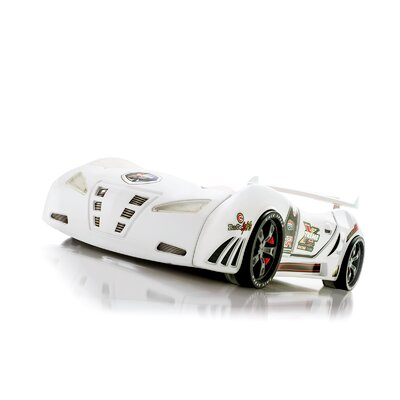 Goldie Turbo Race Car Bed Color: White