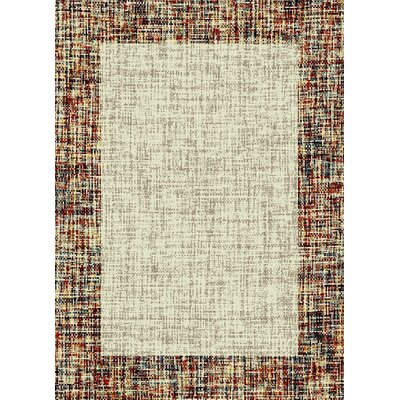 Marana Anti-Bacterial Cream/Brown Indoor/Outdoor Area Rug Rug Size: 5 x 7