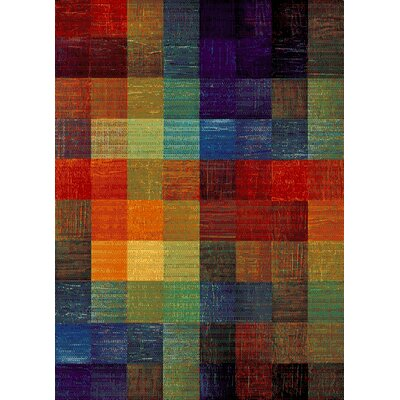 Bettis Anti-Bacterial Blue/Orange/Green Indoor/Outdoor Area Rug Rug Size: 8 x 10