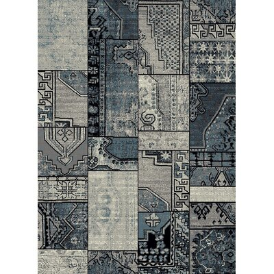 Marana Anti-Bacterial Gray/Blue Indoor/Outdoor Area Rug Rug Size: 8 x 10