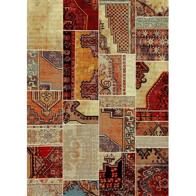 Marana Anti-Bacterial Beige/Orange Indoor/Outdoor Area Rug Rug Size: 5 x 7