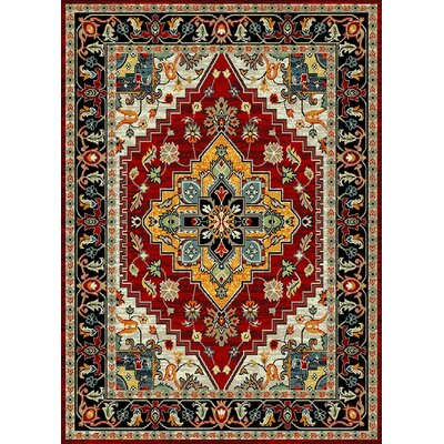 Marana Anti-Bacterial Red/Yellow/Black Indoor/Outdoor Area Rug Rug Size: 8 x 10