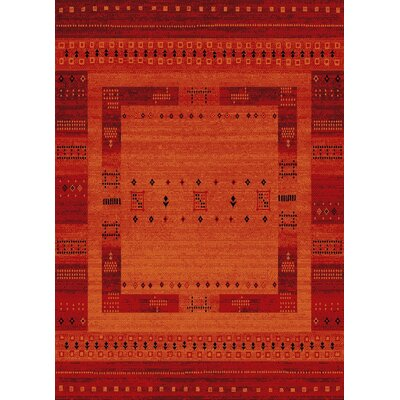 Marana Anti-Bacterial Orange Indoor/Outdoor Area Rug Rug Size: 5 x 7