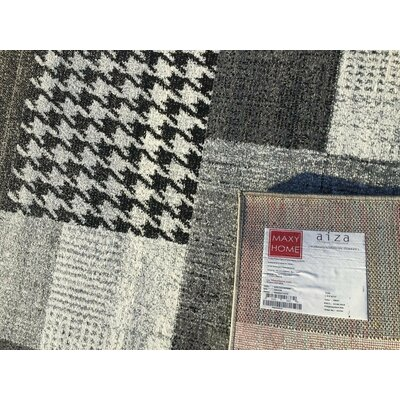 Bettis Anti-Bacterial Gray/Black Indoor/Outdoor Area Rug Rug Size: 5 x 7