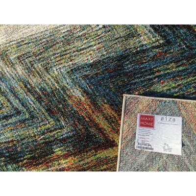 Bettis Retangle Anti-Bacterial Blue/Brown Indoor/Outdoor Area Rug Rug Size: 5 x 7