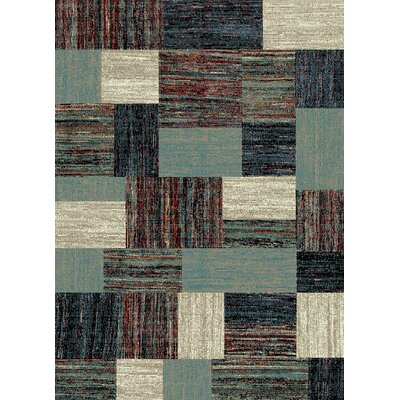 Bettis Anti-Bacterial Blue/Brown Indoor/Outdoor Area Rug Rug Size: 8 x 10