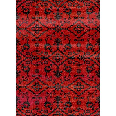 Auston Anti-Bacterial Red/Black Indoor/Outdoor Area Rug Rug Size: 8 x 10