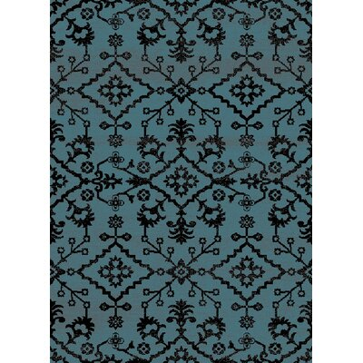Auston Anti-Bacterial Blue/Black Indoor/Outdoor Area Rug Rug Size: 8 x 10