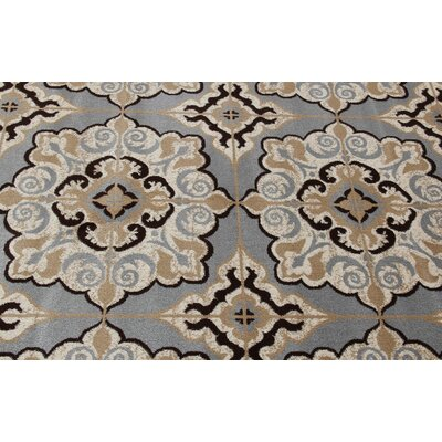 Doreen Decorative Modern Contemporary Southwestern Gray/Beige Area Rug Rug Size: 5 x 7