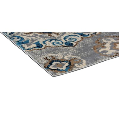 Doreen Decorative Modern Contemporary Southwestern Navy/Gray Area Rug Rug Size: 3 x 5