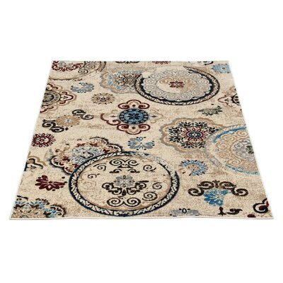 Doreen Decorative Modern Contemporary Southwestern Beige/Black Area Rug Rug Size: 3 x 5