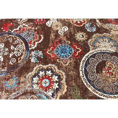 Doreen Decorative Modern Contemporary Southwestern Brown/Beige Area Rug Rug Size: 5 x 7