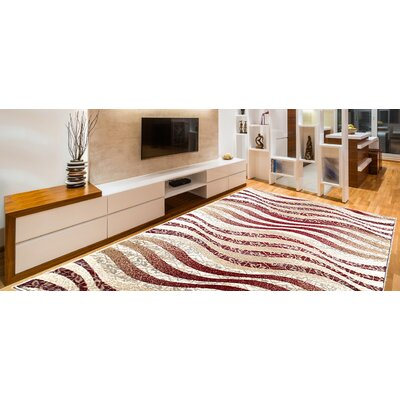 Davida Decorative Modern Contemporary Southwestern Red/Beige Area Rug Rug Size: 5 x 7