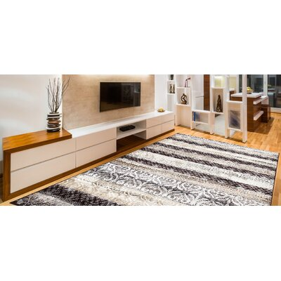 Doreen Decorative Modern Contemporary Southwestern Beige/Brown Area Rug Rug Size: 5 x 7