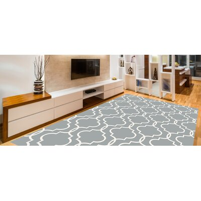 Larrabee Decorative Modern Contemporary Southwestern Gray Area Rug Rug Size: 5 x 7