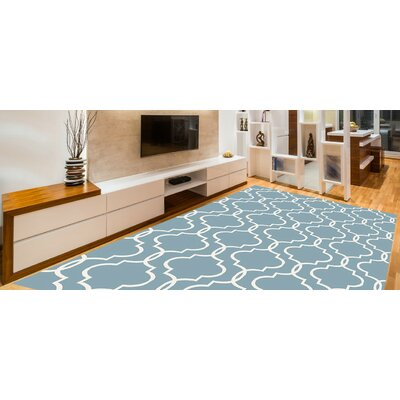 Larrabee Decorative Modern Contemporary Southwestern Blue Area Rug Rug Size: 8 x 10