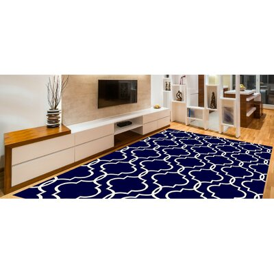 Larrabee Decorative Modern Contemporary Southwestern Navy Area Rug Rug Size: 5 x 7
