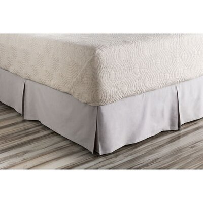 Bankhead Bed Skirt Size: California King, Color: Gray