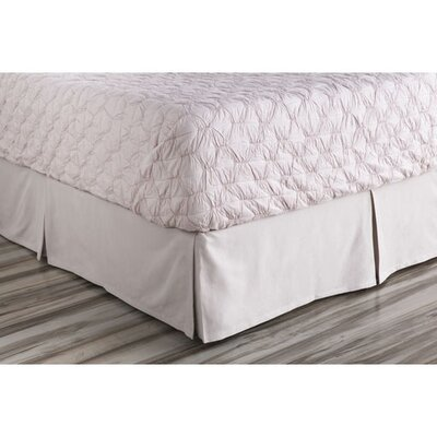 Donaghy Bed Skirt Size: King, Color: Purple