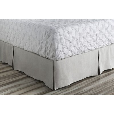 Ipava Bed Skirt Color: Gray, Size: Full