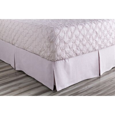 Ipava Bed Skirt Size: King, Color: Purple