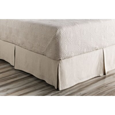 Ipava Bed Skirt Size: Twin, Color: Neutral