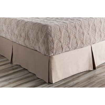 Jewett Bed Skirt Size: Twin, Color: Neutral