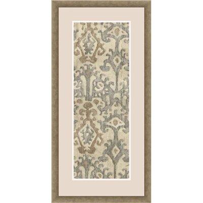 Linen Ikat Framed Painting Print