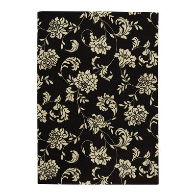 Kristine Black/Ivory Indoor/Outdoor Area Rug