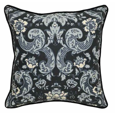 Emma Cotton/Linen Throw Pillow Color: Black