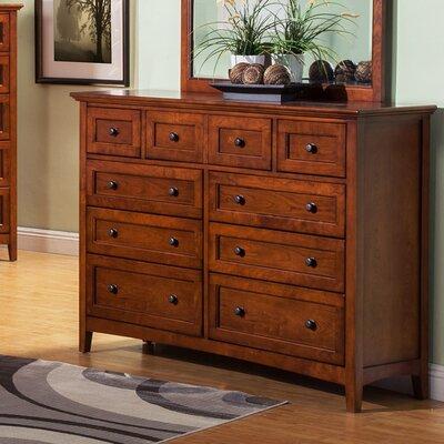 9 Drawer Dresser with Drop Front Center Drawer
