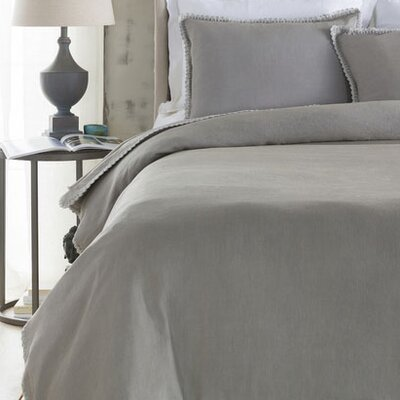 Ipava Duvet Cover Color: Gray, Size: Full / Queen