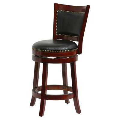 Carstensen 29 Swivel Bar Stool Finish: Cherry