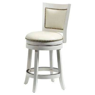 Carstensen 29 Swivel Bar Stool Finish: White